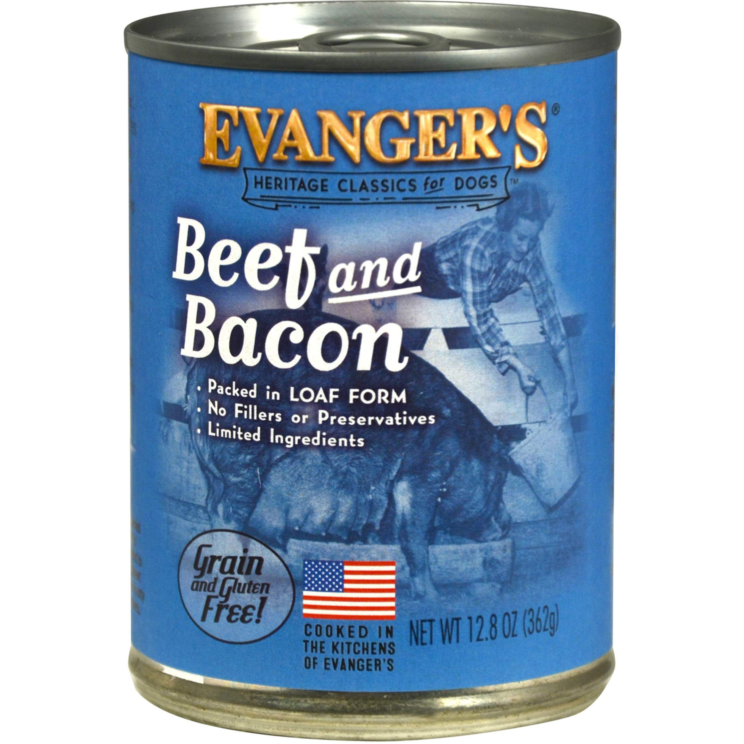Evanger's Heritage Classic Beef & Bacon for Dogs, 12 x 20.2 oz cans, 12 x 20.2 oz cans by Evanger's Dog & Cat Food Company, Inc.