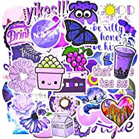50 Pcs Purple Stickers for Water Bottles Laptop Stickers Waterproof Stickers Pack Cute Aesthetics Stickers for Girls boy