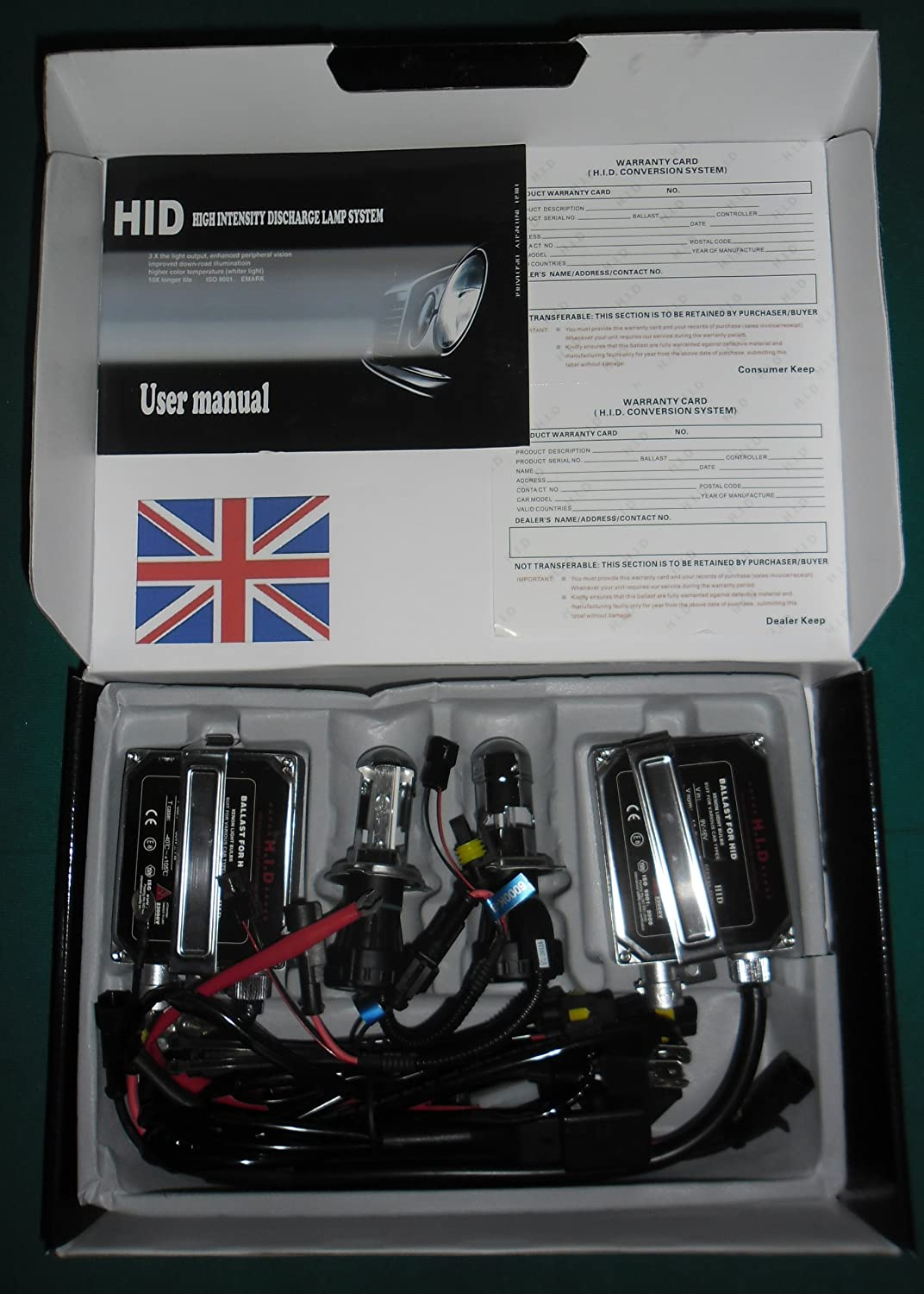 H4 HI-LOW Beam Xenon Headlamp Conversion Kit 6000k Advanced Model Ultimatecarparts
