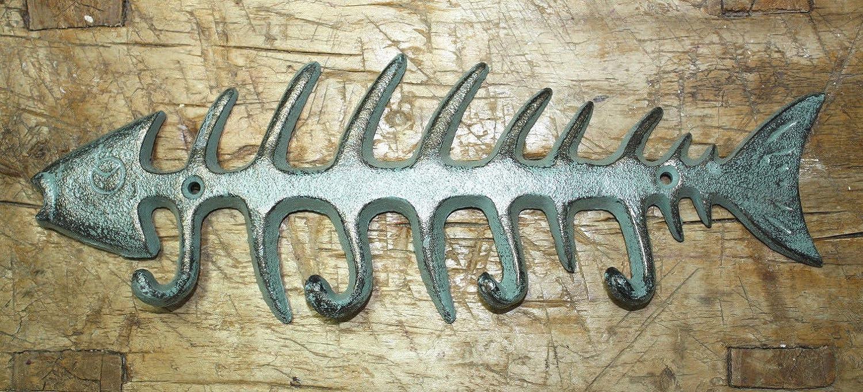 Cast Iron BEAR Towel Hanger Coat Hooks Hat Hook Key Rack Hunting Camp RUSTIC