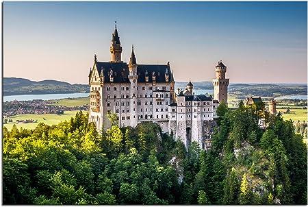 Kunst Discounter Bild Leinwandbilder Schloss Neuschwanstein Konig Ludwig Bayern A05411 150 X 100 Cm Amazon Co Uk Kitchen Home