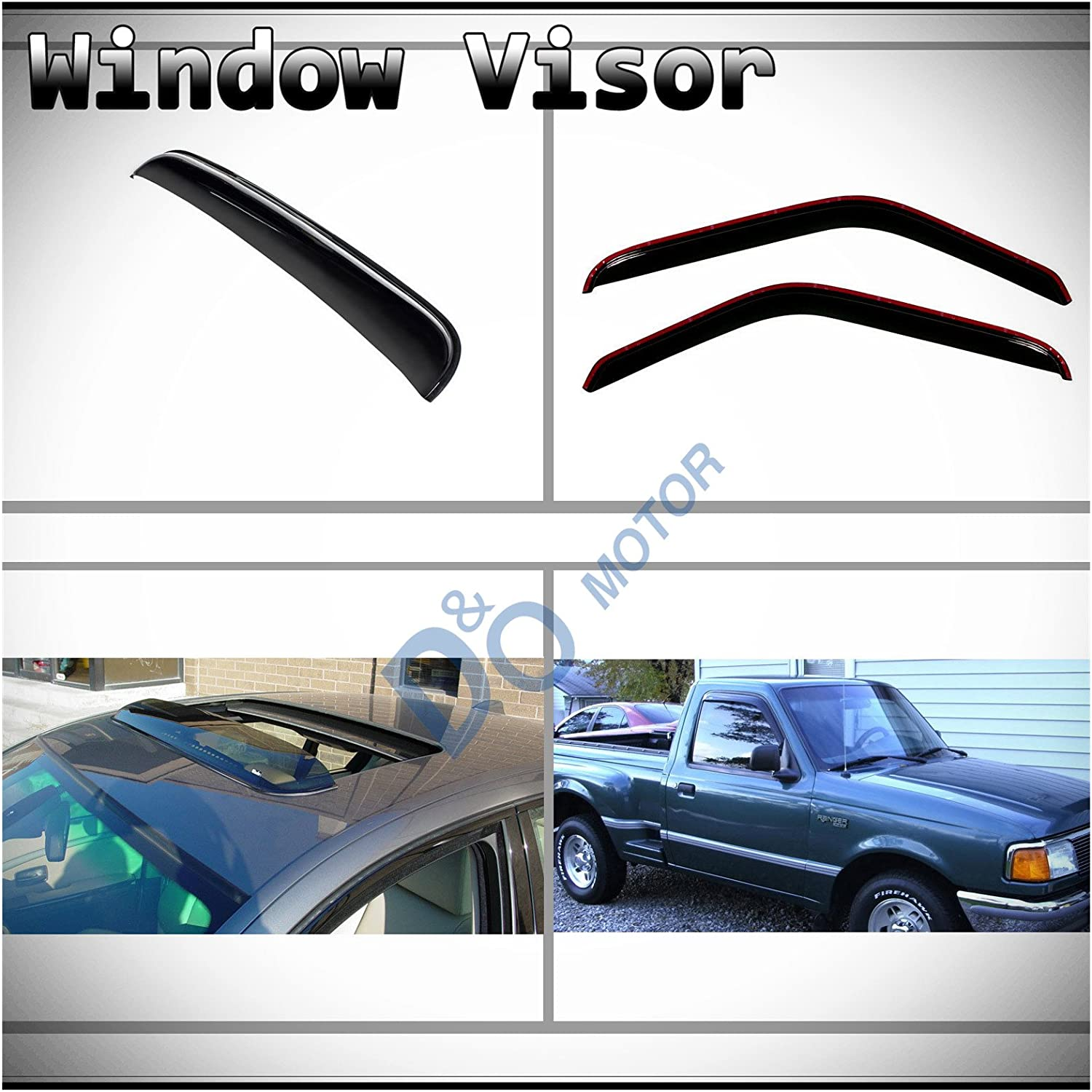 Sun//Rain Guard Vent Shade Window Visors For Ford Ranger Mazda B2300 B3000 93-11
