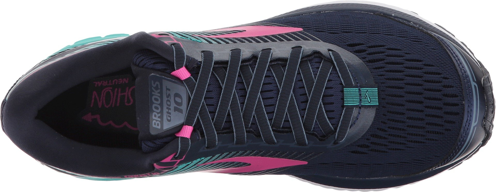 Brooks Women's Ghost 10 Navy/Pink/Teal Green 9.5 B US by Brooks (Image #2)