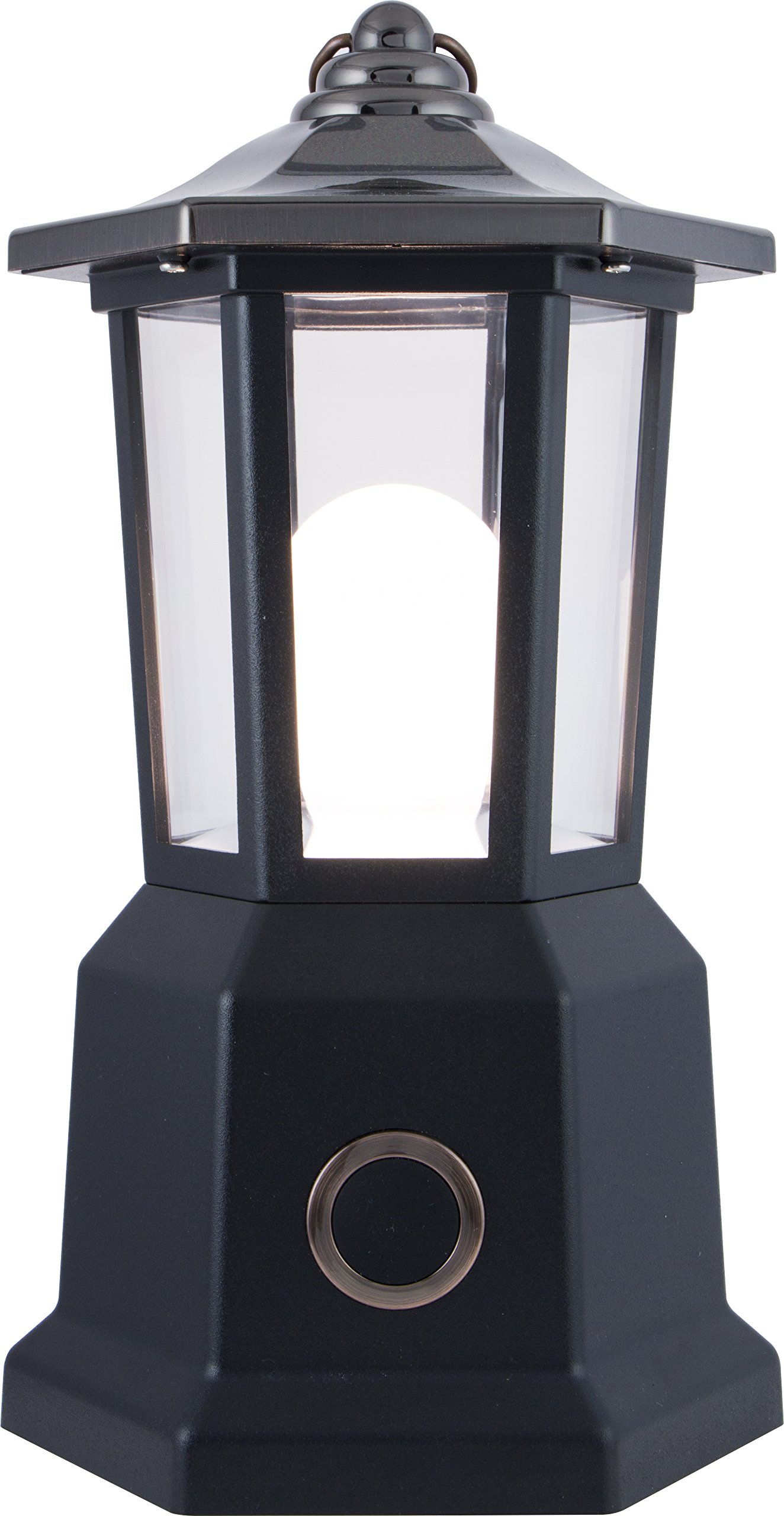Enbrighten 10626 LED Patio Carriage Lantern, Battery Operated, Oil Rubbed Bronze Finish, Contemporary Design, 150 Lumens, Water Resistant