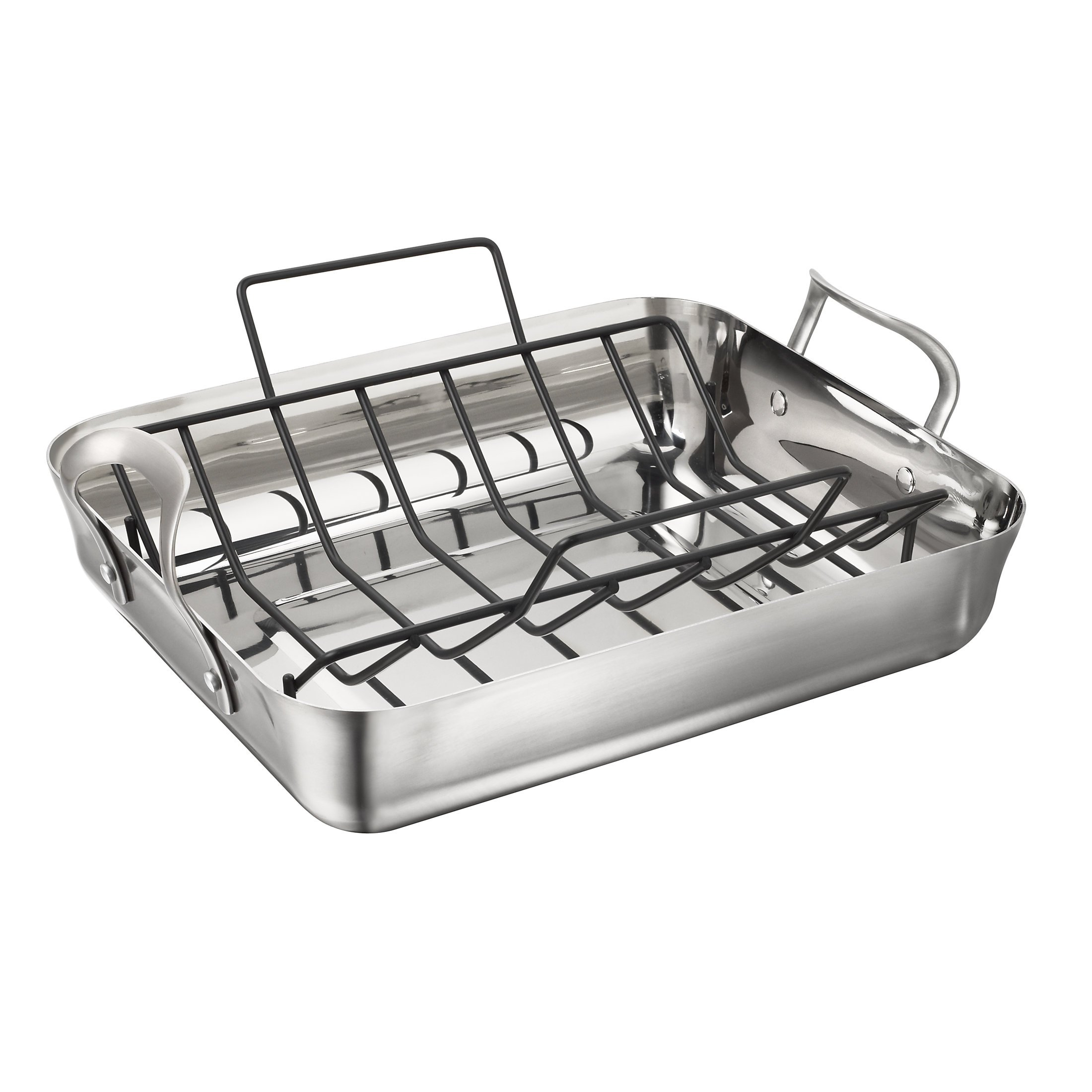 Calphalon Contemporary 16-Inch Stainless Steel Roasting Pan with Rack by Calphalon