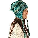 Tribe Azure Fair Trade Soft Warm Wool Hat Cap Winter Fleeced Inside Thick Ear Flaps Women Fashion