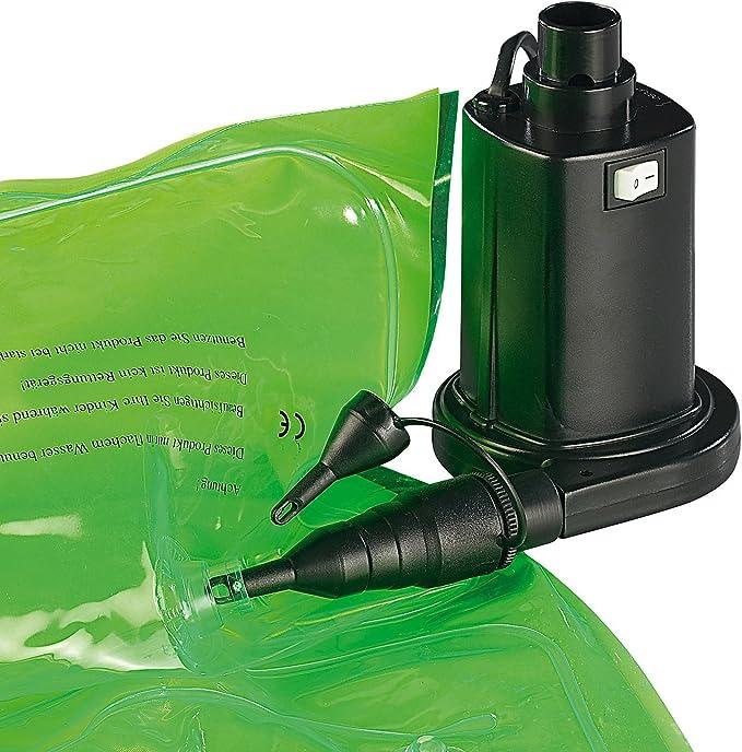 Elektrische Pumpe f/ür Luftmatratze Schwarz 230 Volt Erwachsene NC-5097 Luftpumpe f/ür schnelles Auf-/& Abpumpen 1 infactory Unisex/