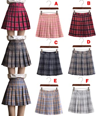 a7e0e96c5050f UNIYA(ウニヤ) チェック柄 スカート プリーツスカート 学生 ミニスカート 可愛い 制服スカート 女子