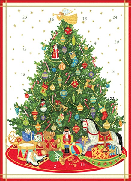 Oh Christmas Tree Oh Christmas Tree.Amazon Com Caspari Oh Christmas Tree Advent Calendar