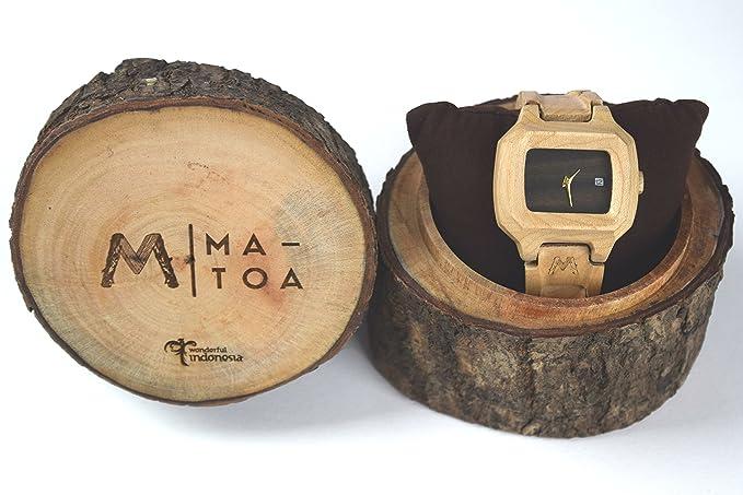Reloj de madera para hombres y mujeres – (grano de madera de arce Natural de