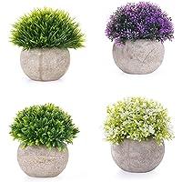 EKKONG Plantas Artificiales Suculentas Plásticas Flor pequeñas en