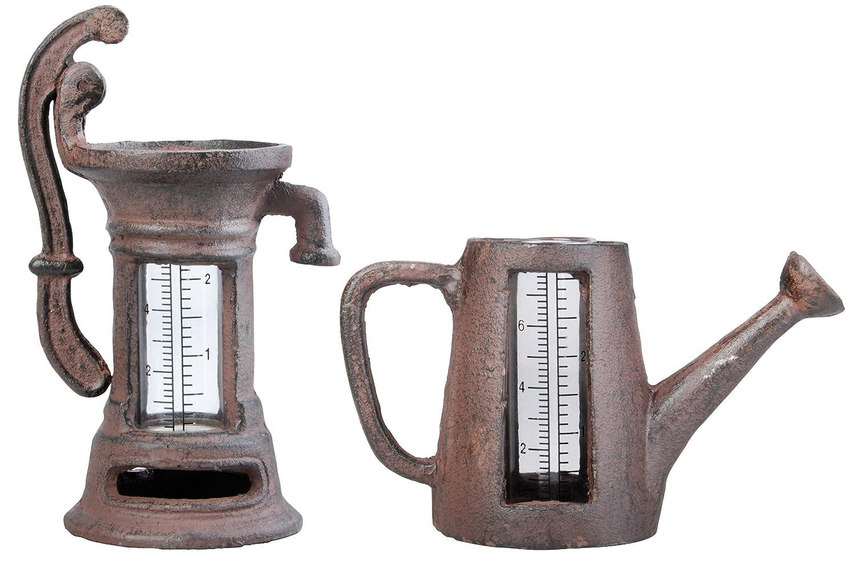 Esschert Design Regenmesser, Niederschlagsmengenmesser Motiv Pumpe oder Kanne, sortiert, 1 Stück 1 Stück Esschert Design Deutschland TH67