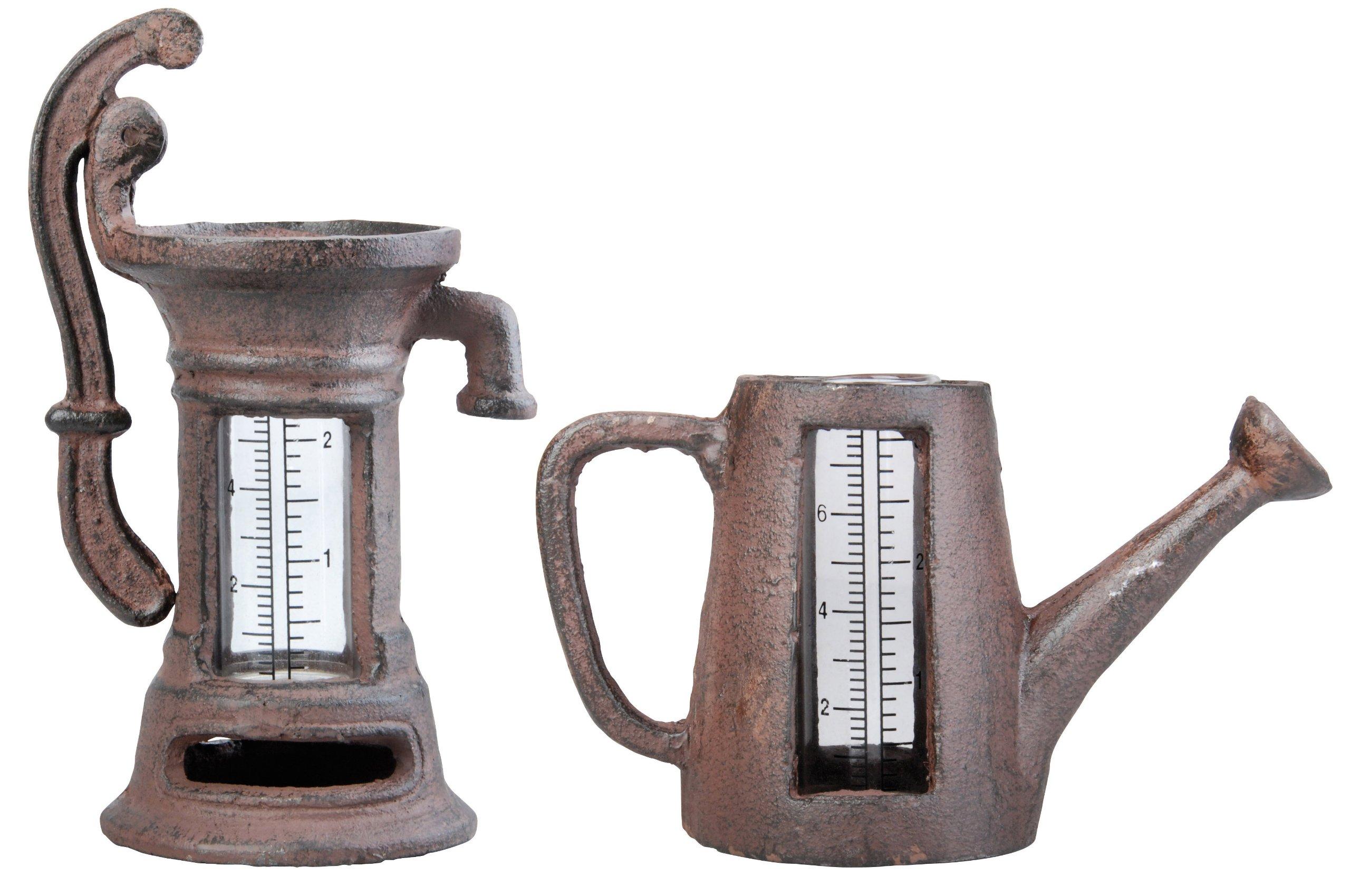 Esschert Design TH67 Rain Gauge - Watering Can & Pump Assortment