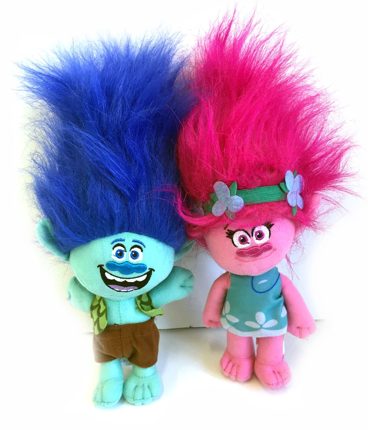 DreamWorks Trolls Movie - Trolls Branch and Poppy 9'' Doll Set - 2 Piece Set by DREAMWORKS TROLLS