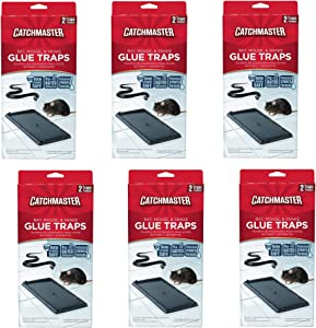 Catchmaster 402 Baited Rat, Mouse and Snake Glue Traps (6 Pack)