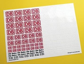 Db Würfel Bahn Deutsche Federal Railways Logo G Maßstab Garten Zug Sticker Aufkleber