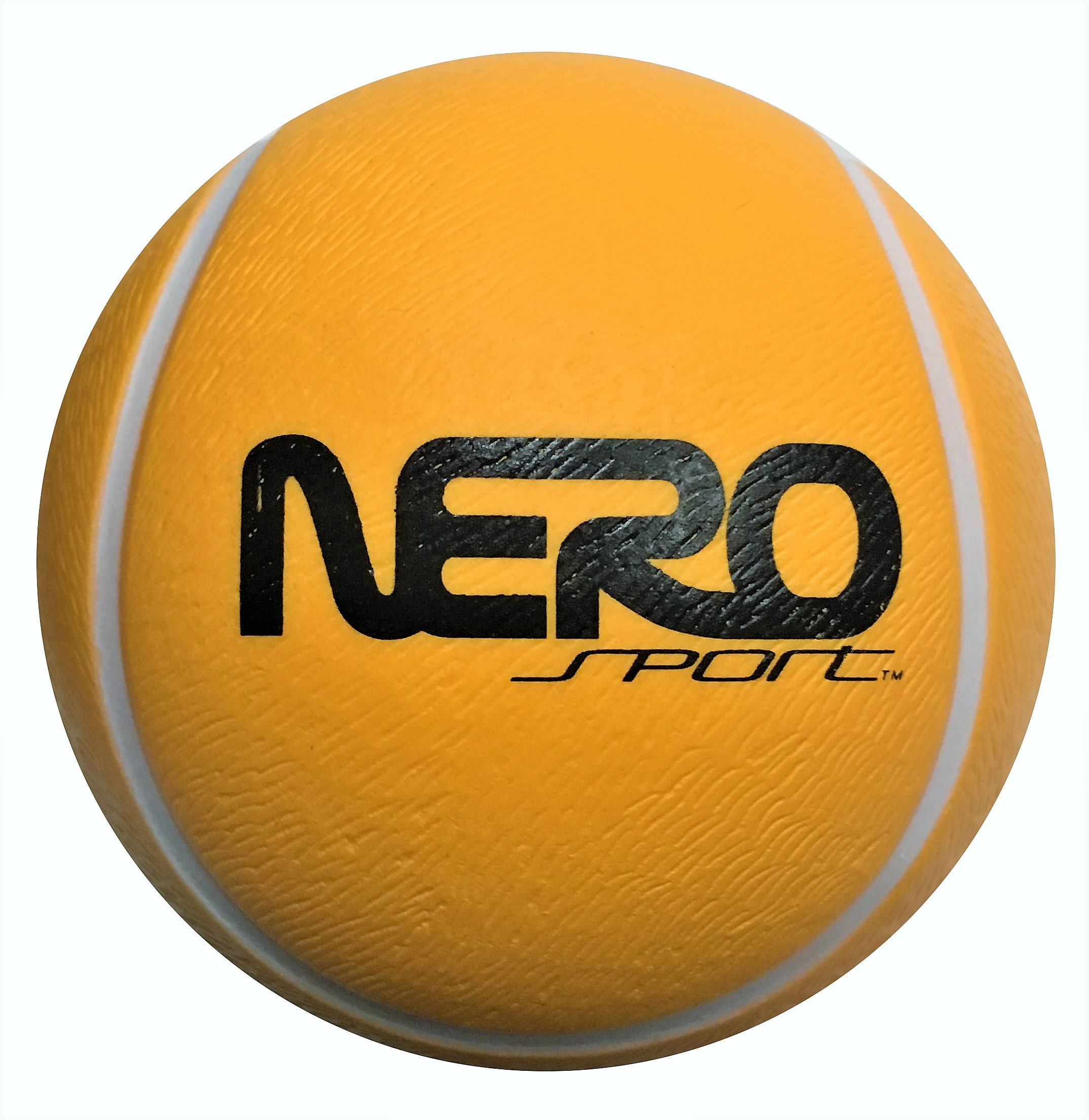 Nero NS200 High Bounce Rubber Toy Ball 3.5 inch Different Styles Tennis Soccer And Basketball Great For the Streets Park Back Yard Agility Ball Bulk Price Birthdays (orange tennis)