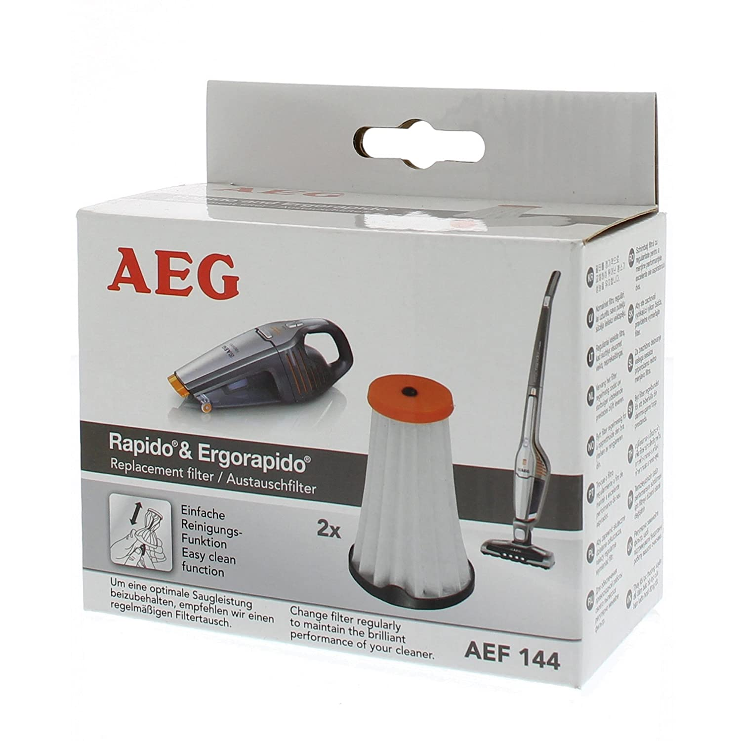 AEG AEF144 Rapido and Ergorapido Replacement Filters