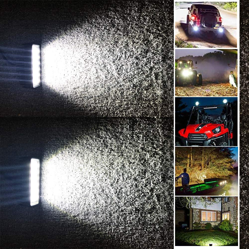 6.3 Inch Led Fog Light Bar 18W Outdoor Led Light Bar 6500K 1530LM Night Driving Lights Off Road Lights Led Flood Light Bar for 4X4 Cabin Boat Ship SUV ATV Deck Mining,1PC(18monthes Warranty)
