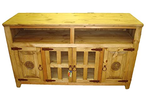 Amazon Com Rustic Star 60 Inch Tv Stand 60 Inches Kitchen Dining