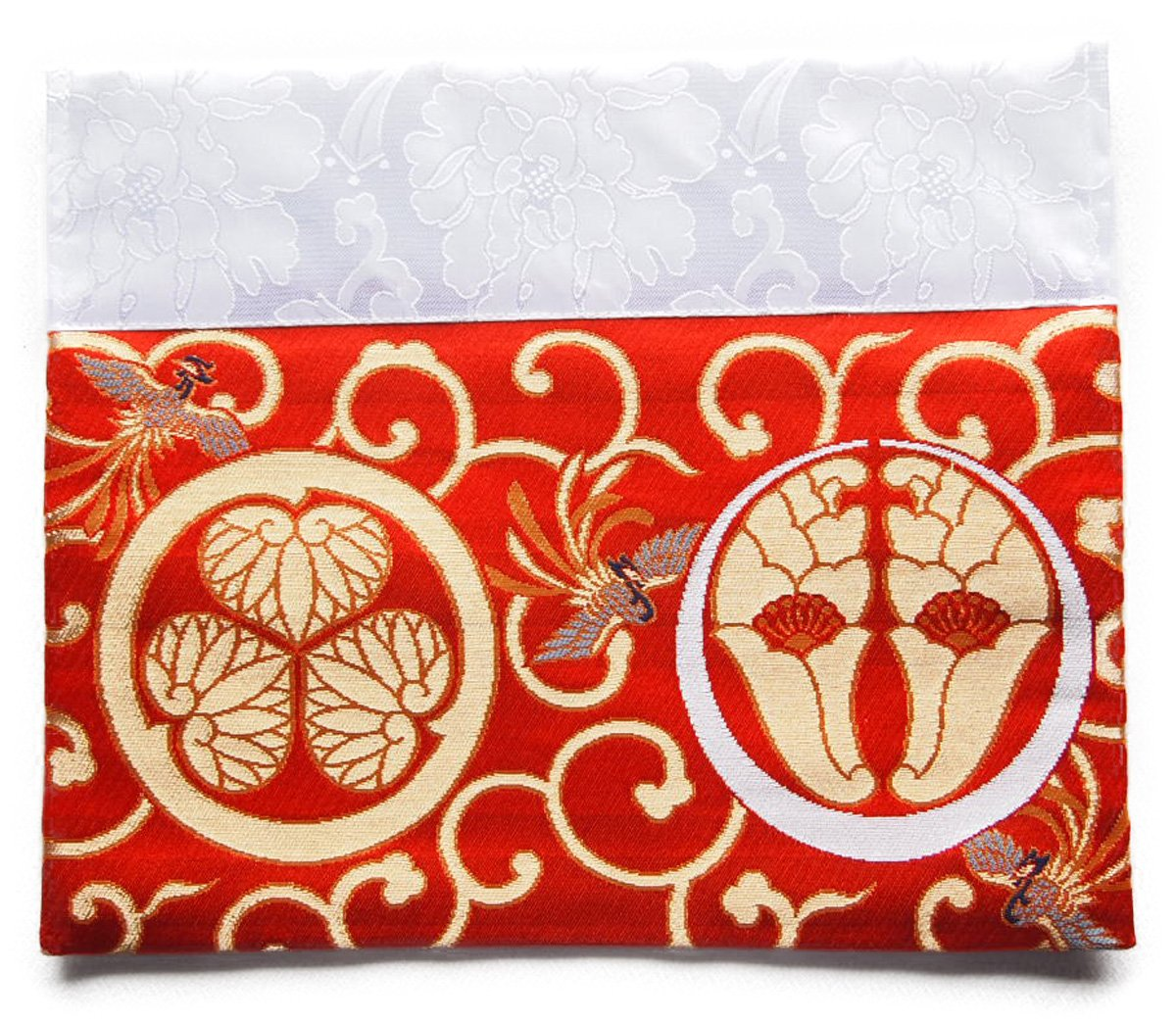仏壇 打ち敷き (内敷き) 浄土宗 家紋 打敷き 四角 高級金らん布利用の一枚 (2尺60.6×31cm, 赤色) B076H2GZRF 2尺60.6×31cm|赤色 赤色 2尺60.6×31cm