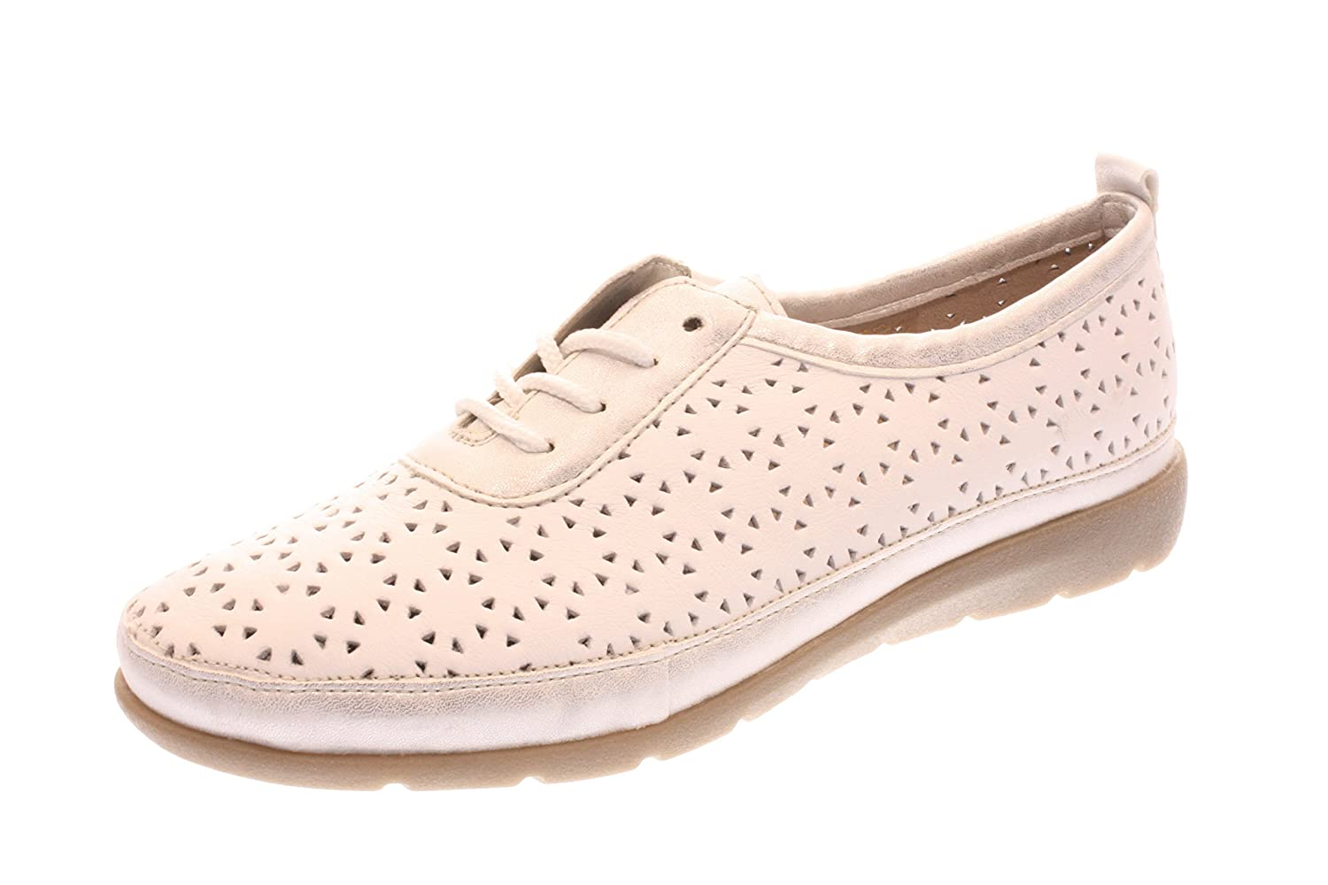 Mujeres Zapatos con cordones ice/weiss blanco, (ICE/WEISS) D190480 36 EU