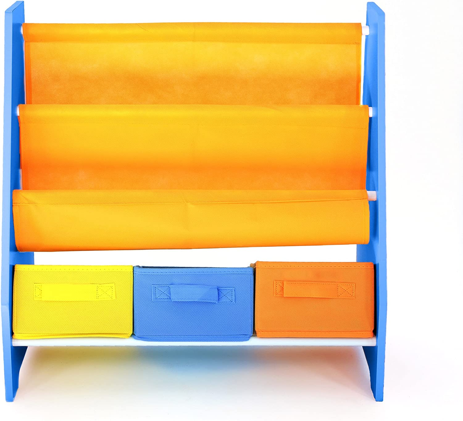 Bebe Style Premium Children's Furniture Wooden Rack Sling Bookcase Shelf for Easy Organization and Storage Easy Assembly