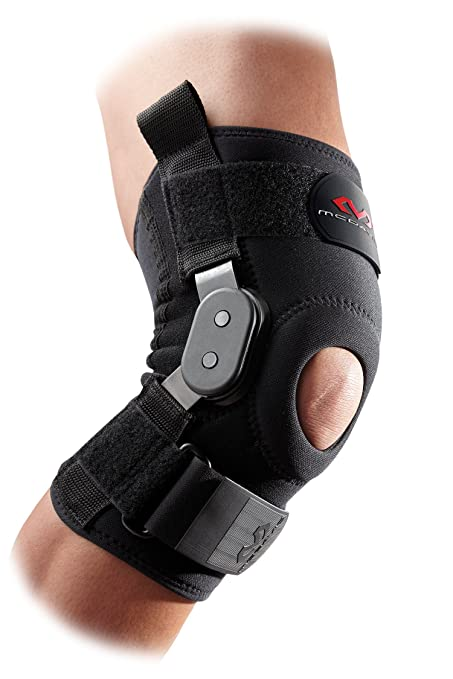 890c4e3cdb McDavid Knee Support Brace with Polycentric Hinges for Men and Women- Black  - Maximum Protection: High-level support; improving medial and lateral  stability ...