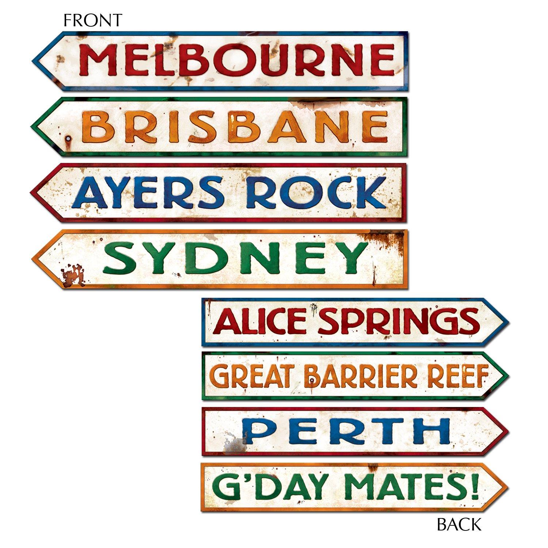 Beistle Outback Rock Weekend Critter CROSSING SIGN Einbauöffnungen 4 ...
