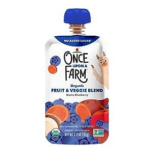 Once Upon a Farm, Organic Mama Bear Blueberry, 3.2 Ounce