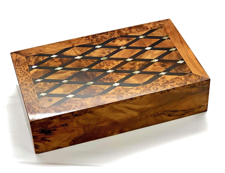 Thuya Wooden Jewelry Box Inlaid With-Mother-Of-Pearl,Moroccan Handmade,Jewelry Organizer Box,Decorative Box,Large Jewelry Box,Storage Box