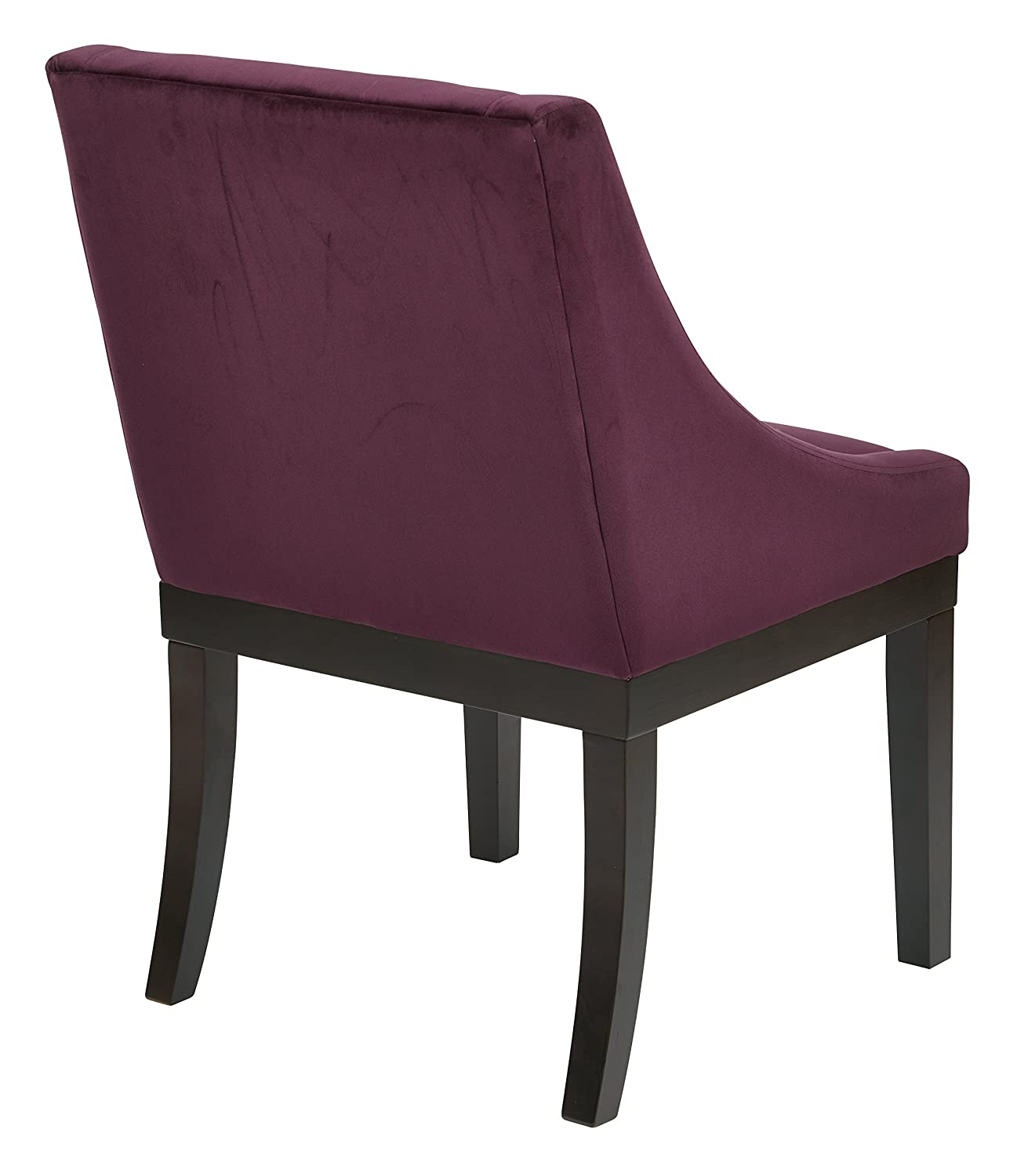 Amazon AVE SIX Monarch Uphosltered Wingback Chair with Solid