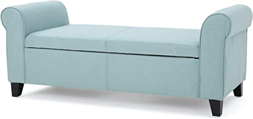 Christopher Knight Home Hayes Armed Fabric Storage Bench