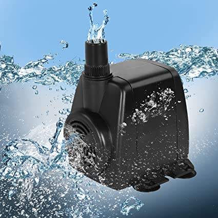 Jago – Bomba de agua sumergible para acuario con conector de salida y cable de alimentación