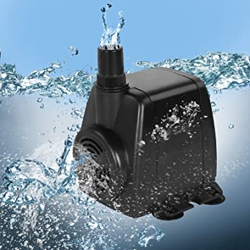 Jago - Bomba de agua sumergible para acuario con conector de salida y cable de alimentación - caudal máximo de 1400 l/h: Amazon.es: Bricolaje y herramientas