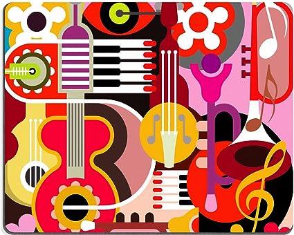 Alfombrillas Abstract Collage de fondo Ilustración de música ...