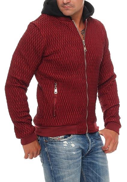 Adrexx Chaqueta para hombre Chaqueta acolchada de invierno con capucha desmontable: Amazon.es: Ropa y accesorios