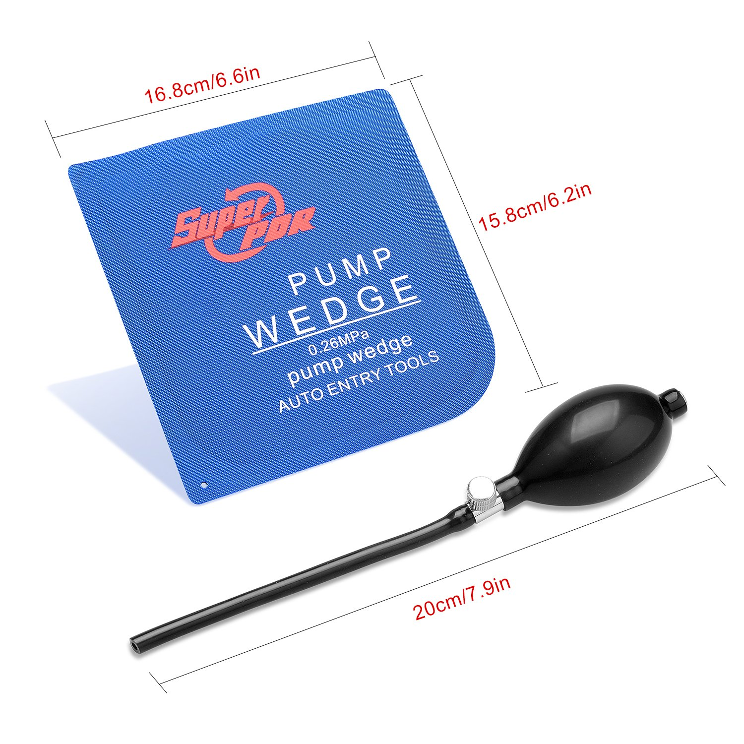 Super PDR 3Pcs Air Wedge Alignment Tool Inflatable Shim Cushioned Powerful Hand Tools for Auto Repair Home Universal Use by Super PDR (Image #2)