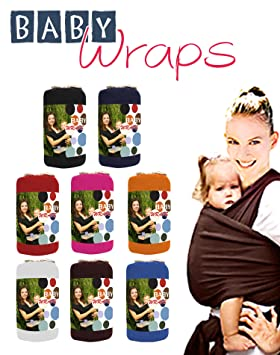 Baby Wrap Sling Carrier 0 3yrs With Carry Case Various Colours