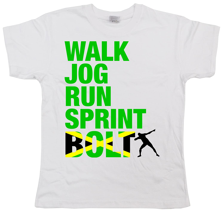 Stooble Boy's Usain Bolt T-Shirt Stooble - 1ClickPrint