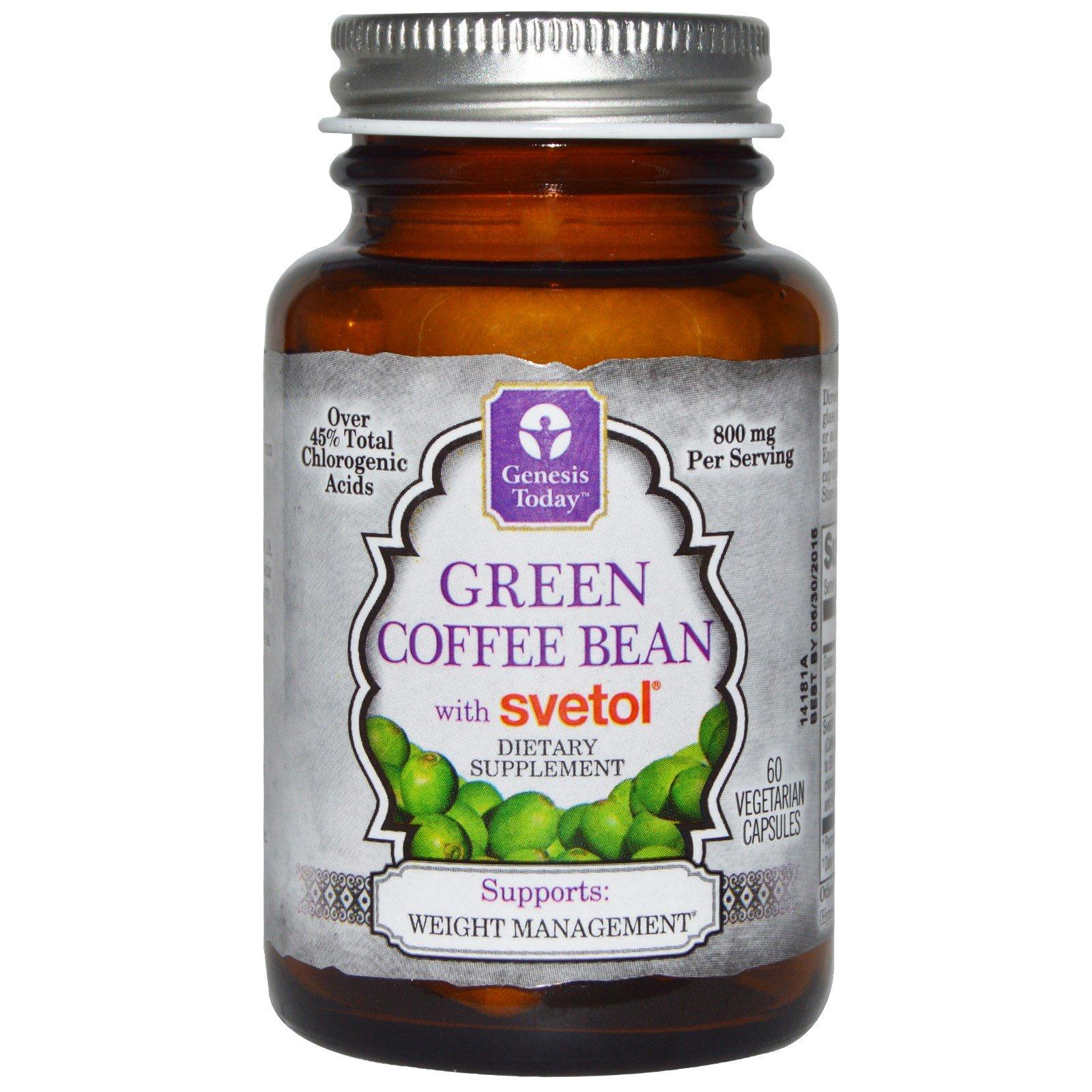 Genesis Today, Green Coffee Bean with Svetol, 60 Veggie Caps - 3PC