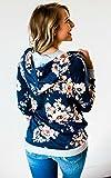 Angashion Women Hoodies-Tops- Floral Printed Long