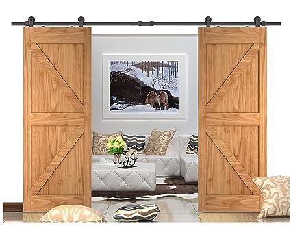 Amazon Diyhd 8ft Top Mounted Barn Door Track For Double Door
