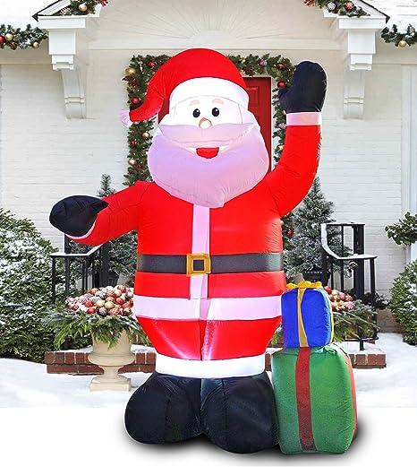 Amazon.com: PARAYOYO - Papá Noel inflable de 8 pies con una ...