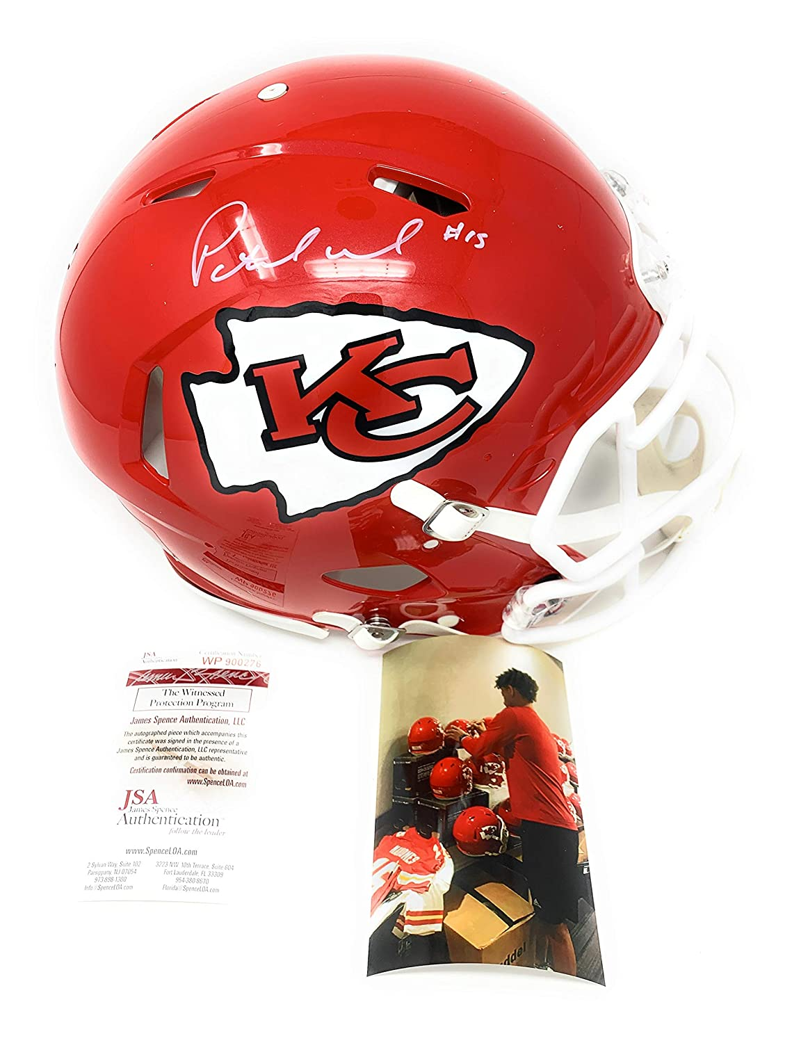 Patrick Mahomes Kansas City Chiefs Signed Autograph Authentic On Field Proline Speed Full Size Helmet JSA Witnessed Certified