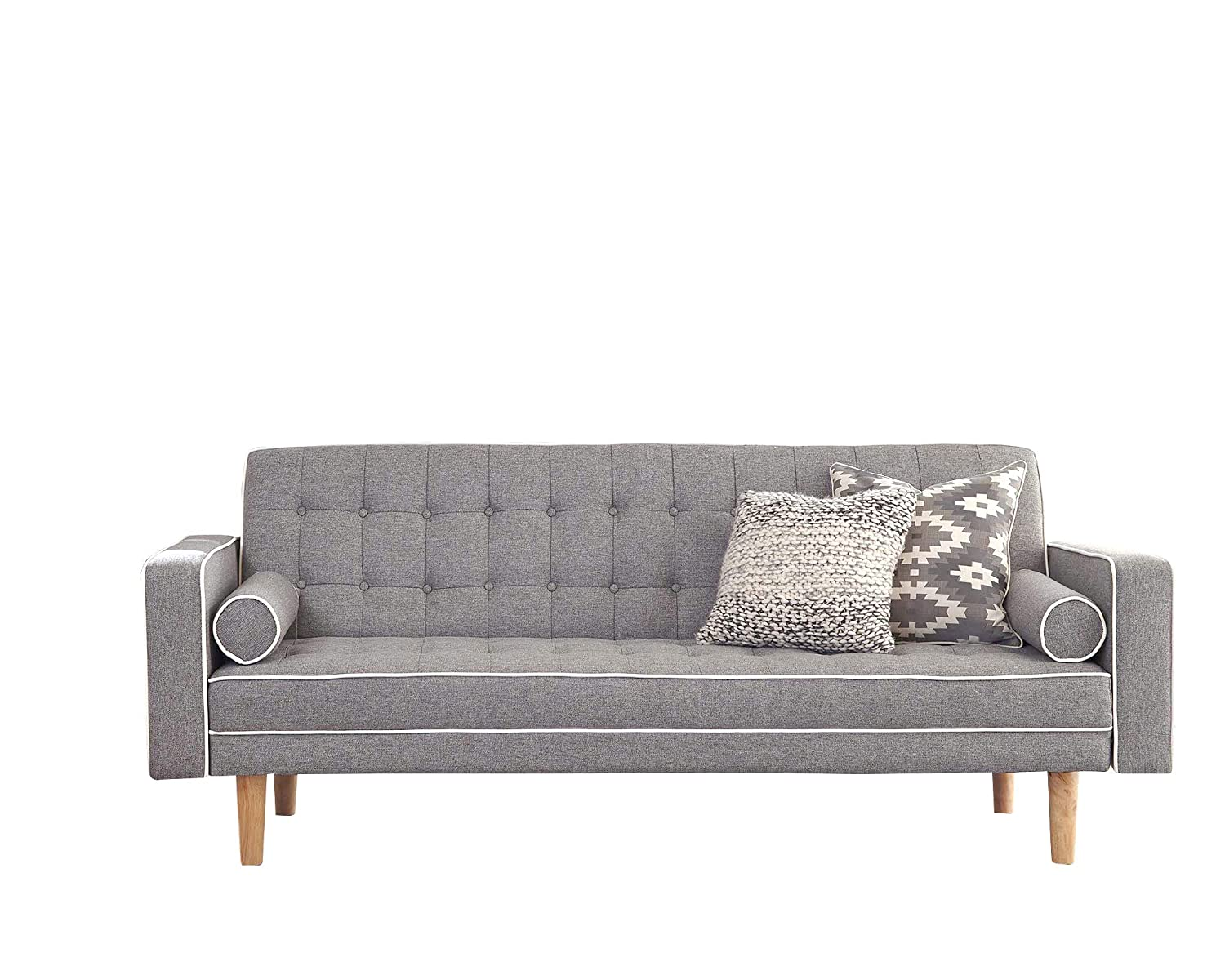 Amazon.com: Scott Living Luske Fabric Sofa Bed with Accent ...