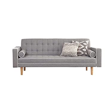 Fabulous Scott Living Luske Fabric Sofa Bed With Accent Pillows In Gray White Cjindustries Chair Design For Home Cjindustriesco