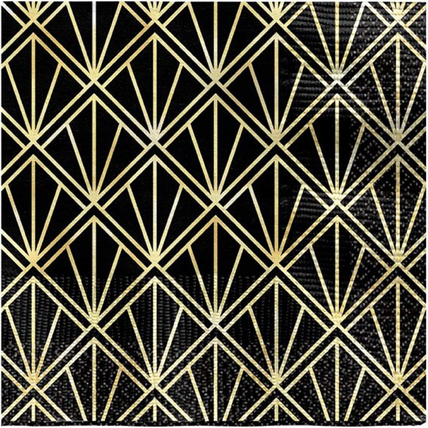 Black Gold Vintage Hollywood Beverage Napkins Theme 1920s Art Deco Adults Birthday New Years Eve Party Celebration Tableware Decorations