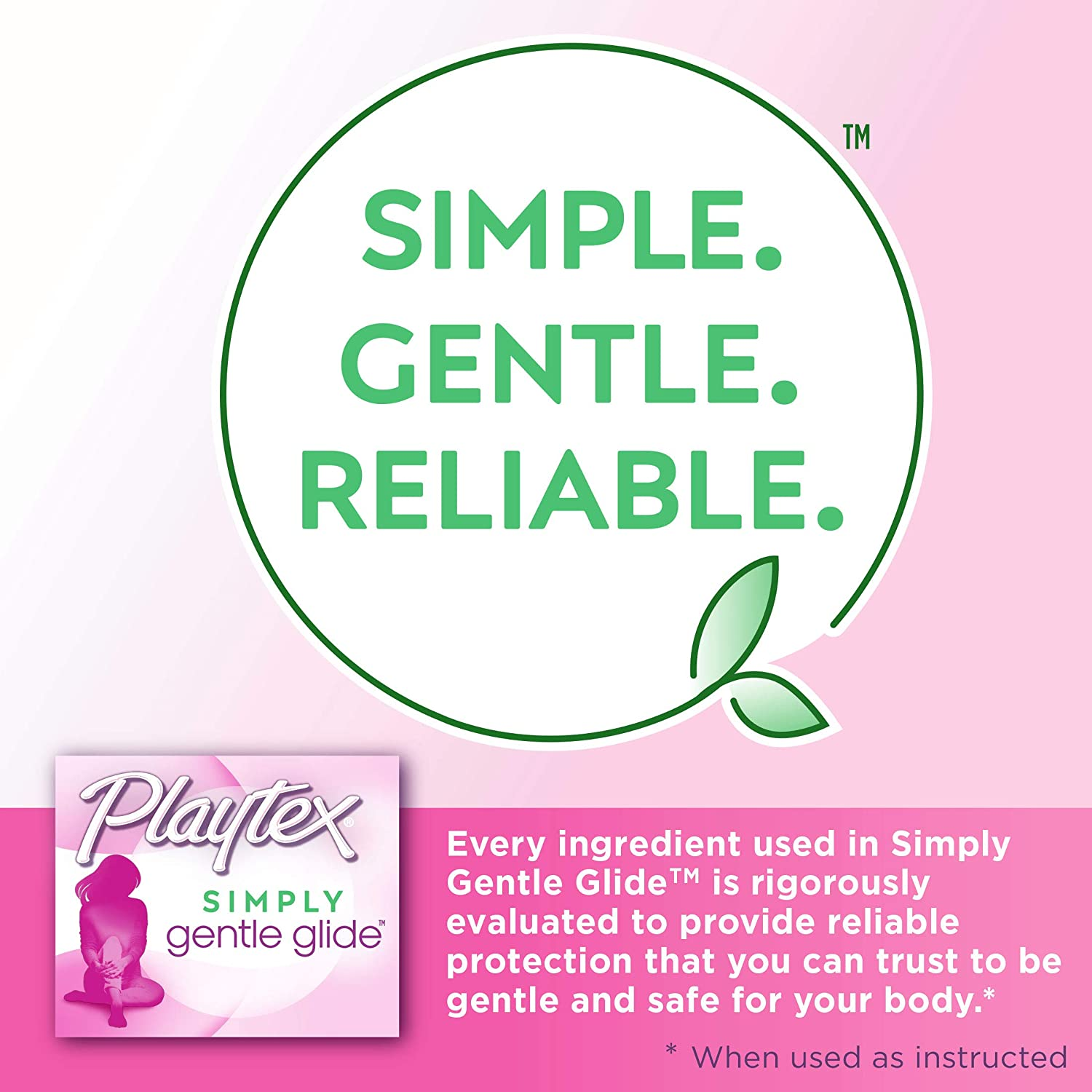 Playtex Simply Gentle Glide Unscented Tampons, Ultra Absorbency, 36 Count (Pack of 1) (Packaging May Vary): Health & Personal Care