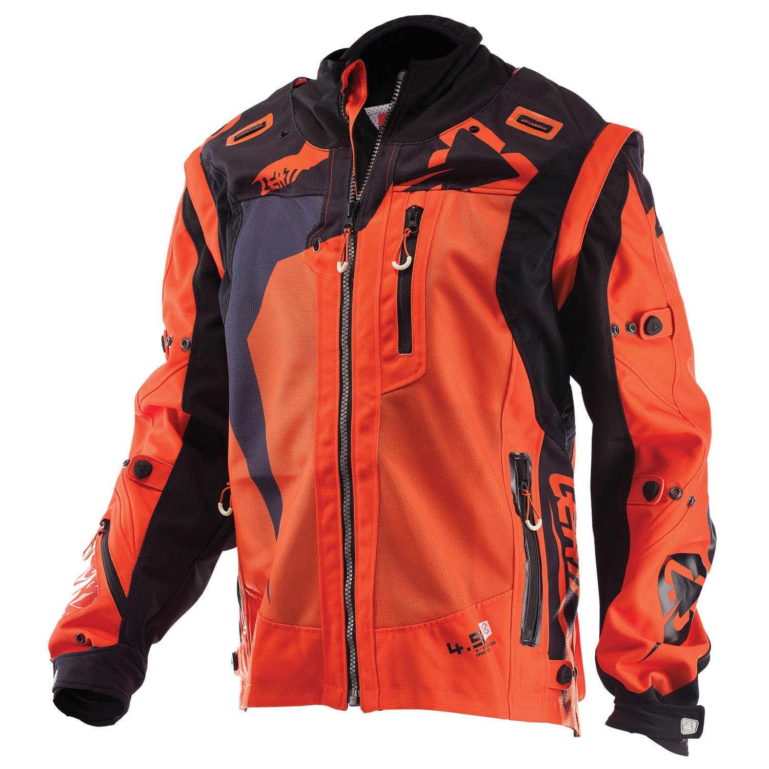 Leatt GPX 4.5 X-Flow Mens Off-Road Motorcycle Jackets Black//Red Large